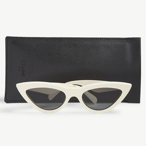NIB never worn white Celine cat sunglasses
